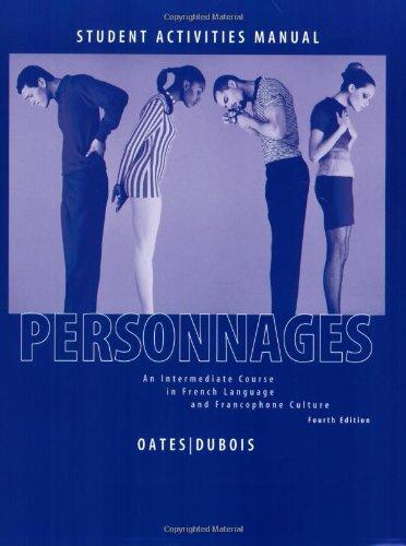 Personnages 4e Activities Manual & LAB CDs
