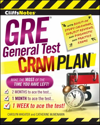 CliffsNotes GRE General Test Cram Plan