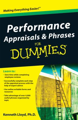 Performance Appraisals and Phrases For Dummies (For Dummies (Business & Personal Finance))