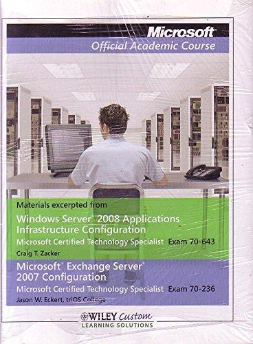 Windows Server 2008 Application Offical Academic Course