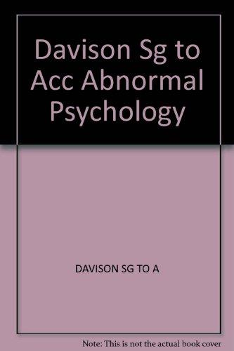Davison Sg to Acc Abnormal Psychology