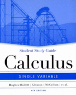 Calculus Single Variable Student Study Guide