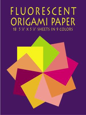 "Fluorescent Origami Paper 18 5 7/8"" X 5 7/8"" Sheets in 9 Colors"