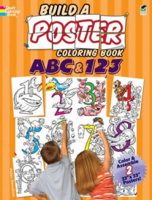 Build a Poster Coloring Book -- ABC And 123