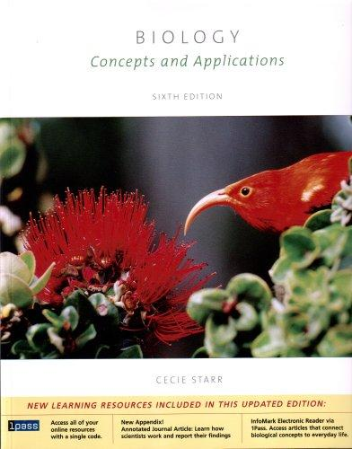 Biology: Concepts and Applications, 6th edition (Enhanced homework edition)