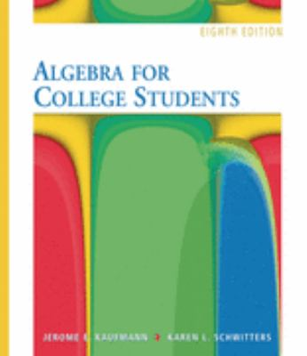 Algebra for College Students Basic Select