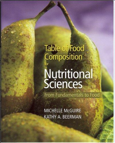 Table of Food Composition for Nutritional Sciences [From Fundamentals to Food]