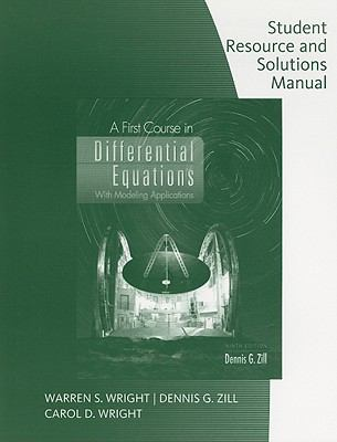 First Course in Diff. Equations - Stud. Solution Manual