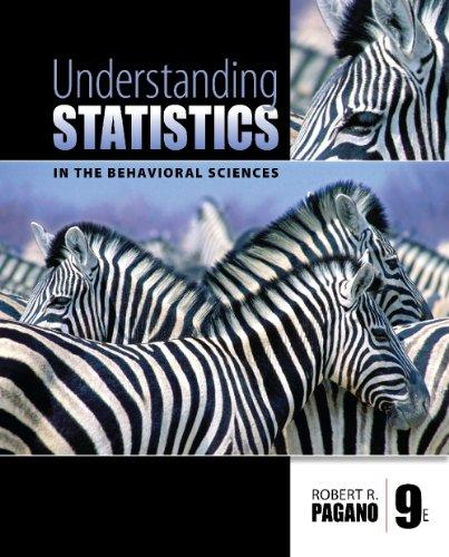 Study Guide for Pagano's Understanding Statistics in the Behavioral Sciences, 9th