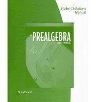Student Solutions Manual for McKeague's Prealgebra, 6th