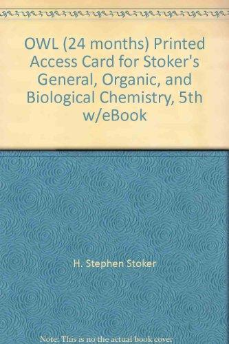 OWL (24 months) Printed Access Card for Stoker's General, Organic, and Biological Chemistry, 5th w/eBook