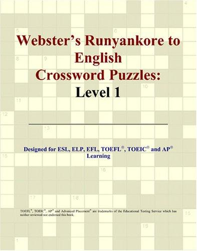 Webster's Runyankore to English Crossword Puzzles: Level 1