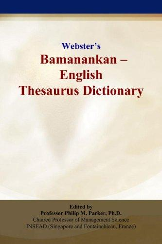 Webster's Bamanankan - English Thesaurus Dictionary