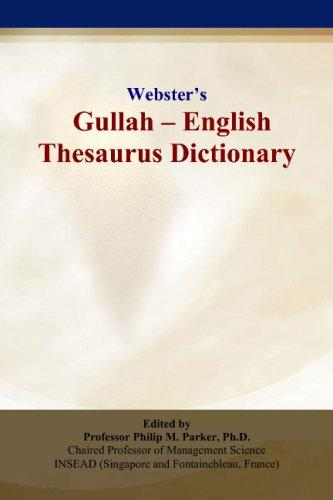 Webster's Gullah - English Thesaurus Dictionary