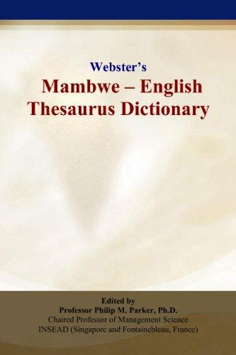 Webster's Mambwe - English Thesaurus Dictionary