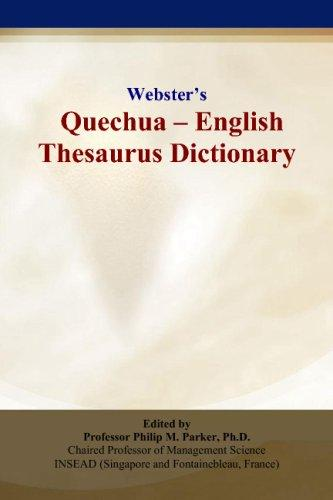 Webster's Quechua - English Thesaurus Dictionary