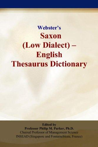 Webster's Saxon (Low Dialect) - English Thesaurus Dictionary