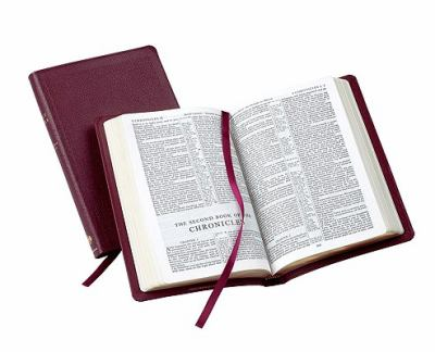 Pitt Minion Reference Bible King James Version Burgundy French Morocco Leather