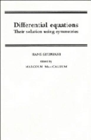 Differential Equations: Their Solution Using Symmetries