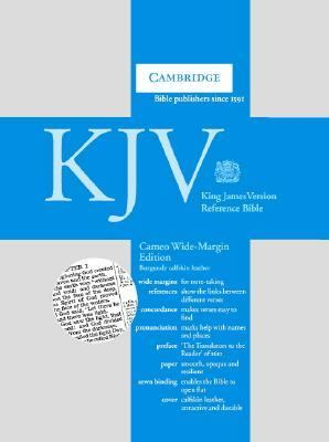 Cameo Reference Bible, Wide-Margin Edition: King James Version (KJV), burgundy calfskin leather