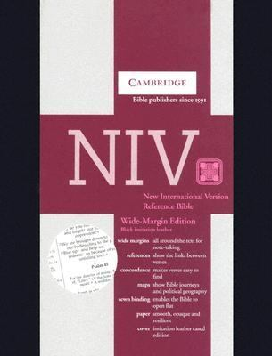 NIV Wide Margin Reference Edition N201wm Black Imitation Leather