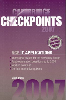 Cambridge Checkpoints VCE IT Applications 2007