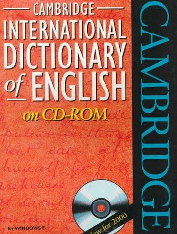 Cambridge International Dictionary of English on CD-ROM