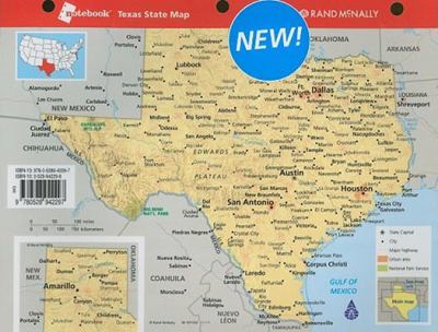 Notebook Map of Texas