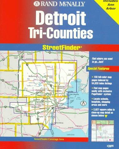 Rand McNally Streetfinder Detroit Tri-Counties, MI