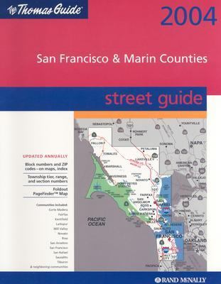 Thomas Guide 2004 San Francisco & Marin Counties Street Guide