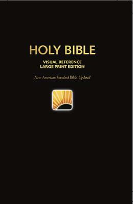 Holy Bible New American Standard, Deep Blue, Leathersoft, Visual Reference