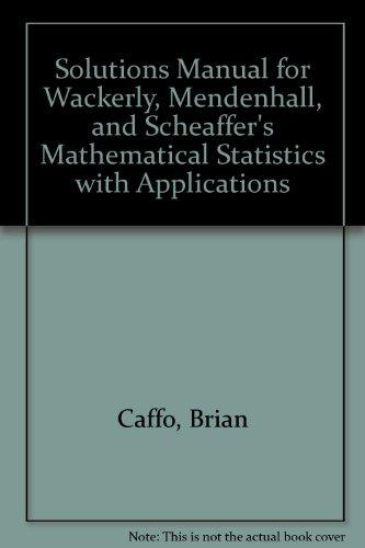 Solutions Manual for Wackerly, Mendenhall, and Scheaffer's Mathematical Statistics with Applications
