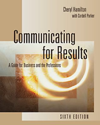 Communicating for Results: Guide for Business and Professions