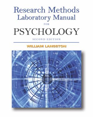 Research Methods Laboratory Manual For Psychology With Infotrac)