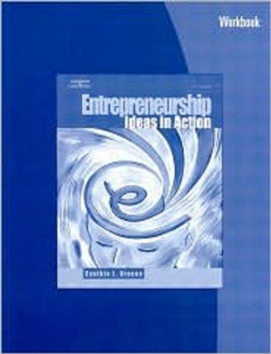 Workbook for Greene's Entrepreneurship: Ideas in Action