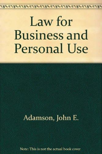 DVD for Adamson's Law for Business and Personal Use, 18th