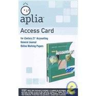 Online Working Papers Printed Access Card for Gilbertson/Lehman's Century 21 Accounting: General Journal, 9th