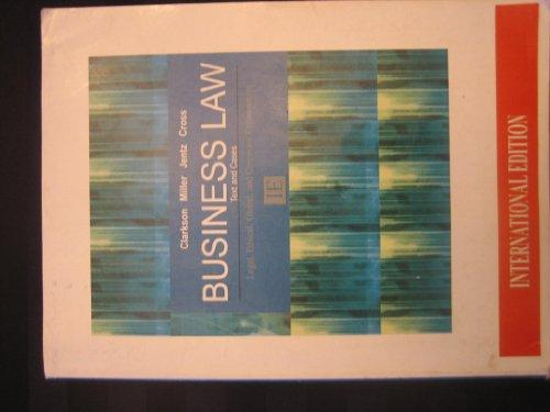 Business Law: Text & Cases