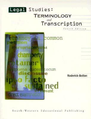 Legal Studies Terminology and Transcription