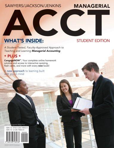 Managerial ACCT: 2010 Student Edition (Book Only)