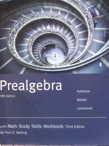 Prealgebra W/Math Study Skills Workbook (Custom) 5th