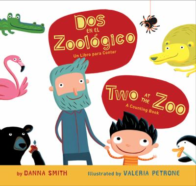 Two at the Zoo/Dos en el zoologico bilingual board book