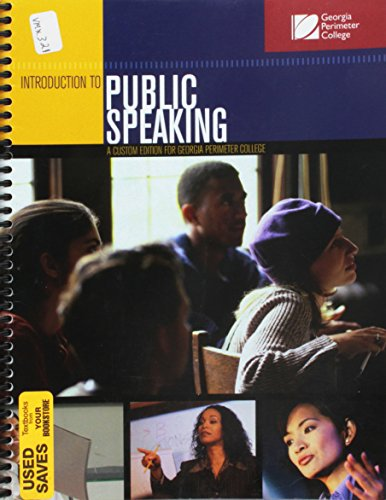 Introduction to Public Speaking Custom Edition for Georgia Perimeter College