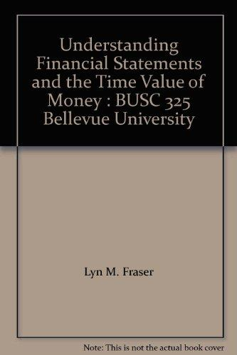 Understanding Financial Statements and the Time Value of Money : BUSC 325 Bellevue University
