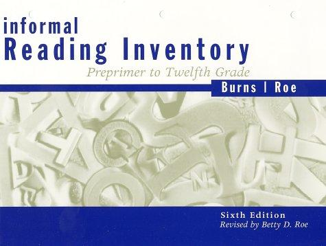 Informal Reading Inventory: Preprimer to Twelfth Grade, Sixth Edition