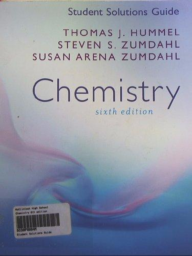 Student Solutions Guide: Chemistry, Sixth Edition