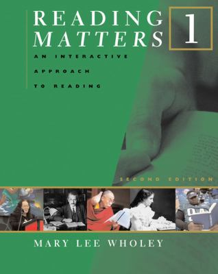 Reading Matters 1 An Interactive Approach to Reading