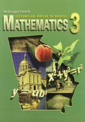 McDougal Littlel Mathematics 3 Georgia: Student Edition Mathematics 3 2008