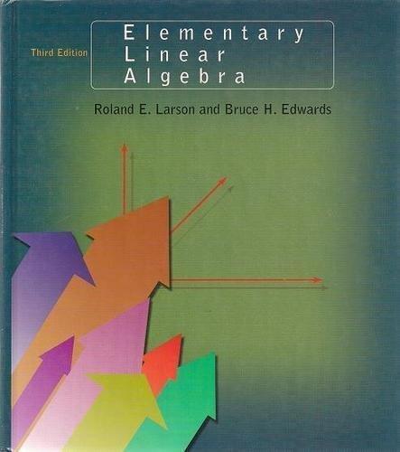 Elementary Linear Algebra 2nd Edition Solution Manual Pdf