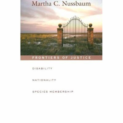 Frontiers of Justice Disability, Nationality, Species Membership